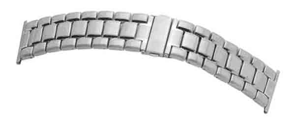 Gents Stainless Steel, Straight End, Clasp Bracelet 24 to 28mm.