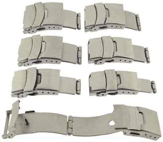 Watch 3 Fold Safety,Set of 6 Clasps