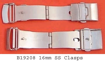 Watch 3 Fold Safety,16mm SS Clasps