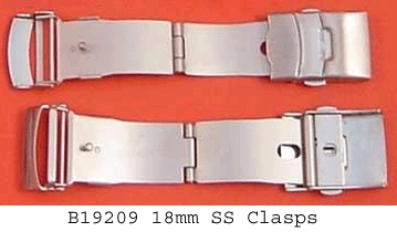 Watch 3 Fold Safety,18mm SS Clasps