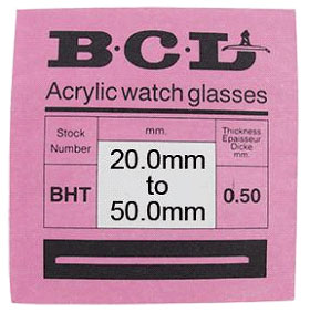 Acrylic Domed Glass Hunter BCL, BHT, 44.9mm.