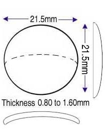 21.50mm, (0.80 to 1.60mm) (CM)