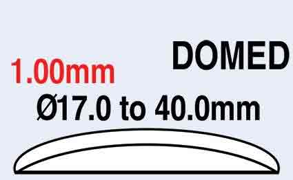 17.0mm (1.00mm) Domed