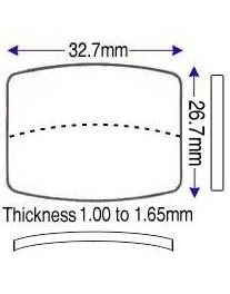 26.70 x 32.70mm (1.00 to 1.65mm) (FM)