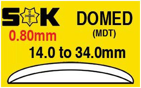 Round Domed Glass SK MDT 0.80mm 21.6mm
