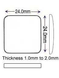 PP* 24.00 x 24.00mm (1.00 to 2.15mm)