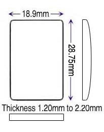 PP* 18.90 x 28.75mm (1.20 to 2.20mm)