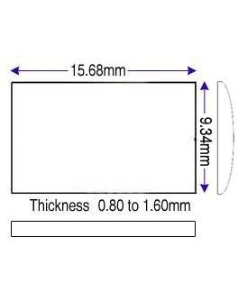 9.34 x 15.68mm (0.80 to 1.60mm)