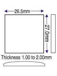 26.50 x 27.00mm (1.00 to 2.00mm) (JJ)