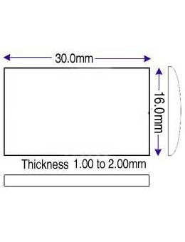 16.00 x 30.00mm (1.00 to 2.00mm) (ST)