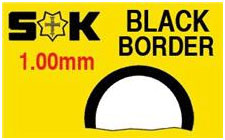Round Flat Border 37.7 x 23.1mm Black