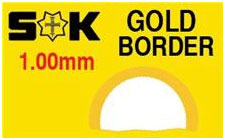 Round Flat Gold Border 21.9 x 16.2mm (XMB/G)