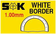 Round Flat Border 32.4 x 26.4mm (XMB/MW) White