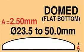 Round Domed Glass Thick edge 44.5mm