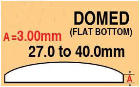 Round Domed Glass Thick edge 33.0mm