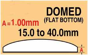 Round Domed Glass Thick edge 20.0mm