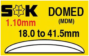 Domed Glass MDM SK 36.4mm