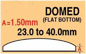 Round Domed Glass Thick (edge) 23.0mm