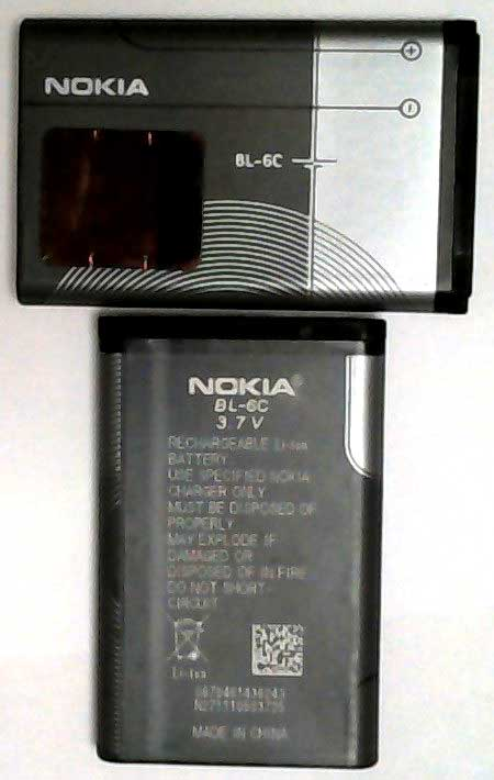 BL-6C Nokia Replacement Mobile Phone Battery