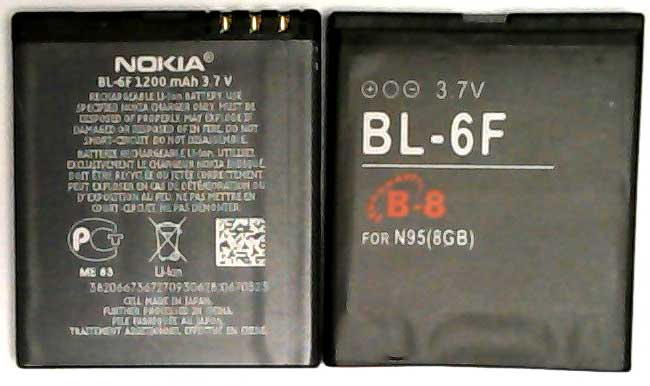 BL-6F Nokia Replacement Mobile Phone Battery