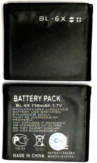 BL-6X Nokia Replacement Mobile Phone Battery