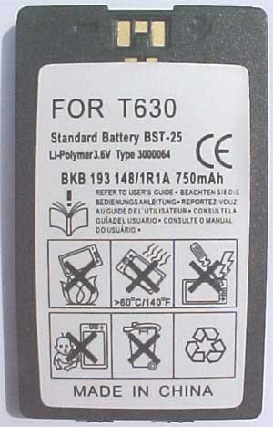 BST-25 Replacement for Sony Ericsson Battery