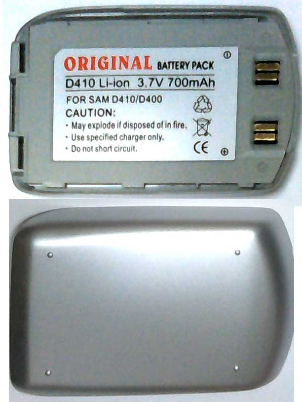 D410 Samsung Replacement Silver Mobile Phone Battery
