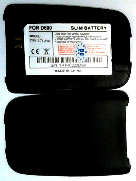 D600 Samsung Replacement Black Mobile Phone Battery,