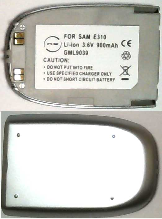 E310 Samsung Replacement Silver Mobile Phone Battery