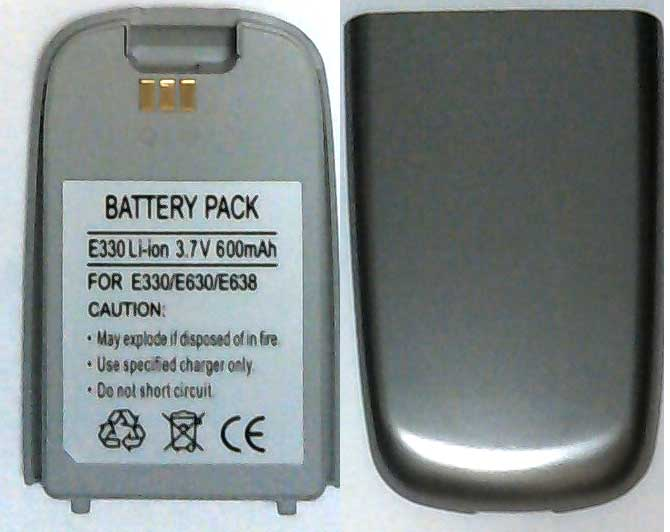 E330 Samsung Replacement Silver Mobile Phone Battery