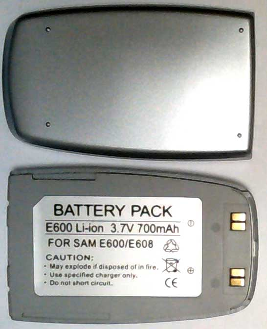 E600 Samsung Replacement Silver Mobile Phone Battery
