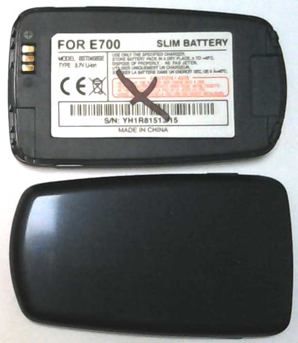 E700 Samsung Replacement Blue Mobile Phone Battery,