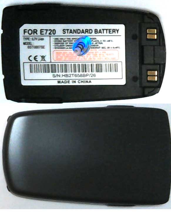 E720 Samsung Replacement Black Mobile Phone Battery