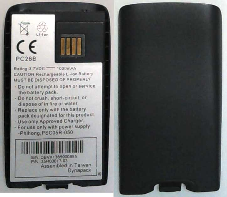 PC26B HTC, I-MATE Replacement Mobile Phone battery