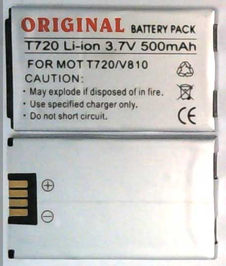 T720 Motorola Replacement Mobile Phone Battery