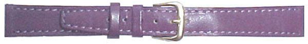 Purple Leather Straps 16mm Gilt