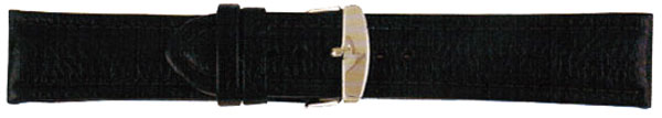 Black Leather Watch Straps Gilt 24mm