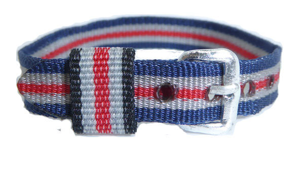 10mm Nylon Strap Red White Blue