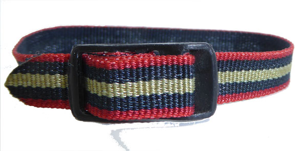 10mm Nylon Strap Blue Red Gold