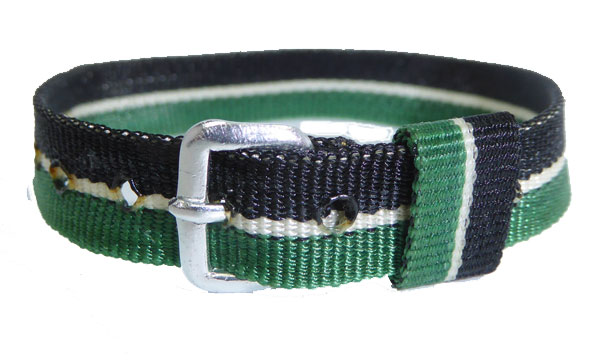 10mm Nylon Strap Green Black White