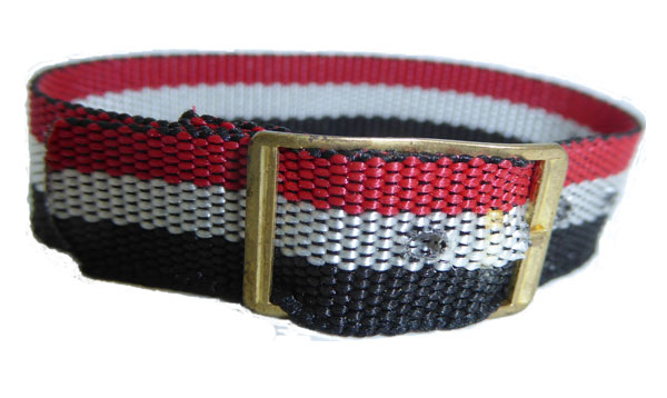 16mm Red White Black Coloured nylon watch straps Length 120mm