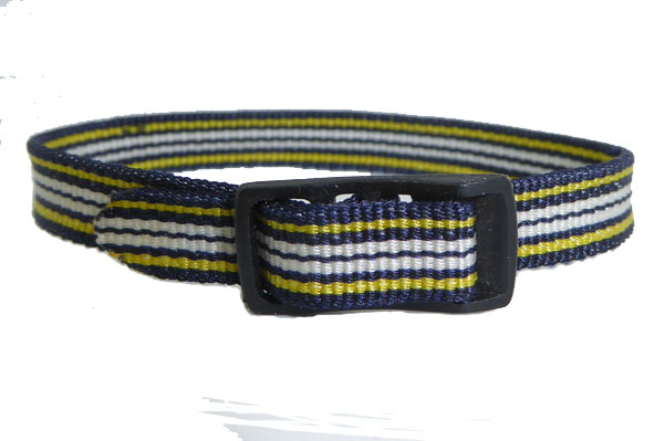 8mm Multi Coloured Black Yellow White Watch strap.