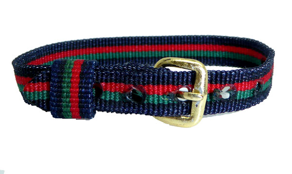 8mm Multi Coloured Red Green Black Watch strap.