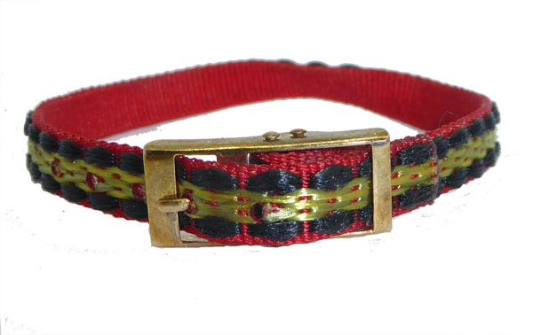 8mm Gold Black Red Multi Coloured Watch strap.