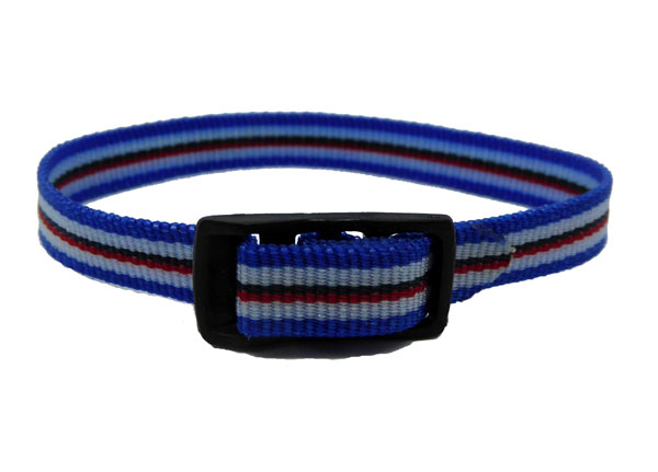 8mm Multi Coloured Blue White Red Watch strap.