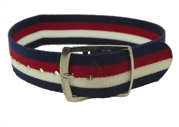 16mm Red White Blue Coloured nylon watch straps Length 130mm