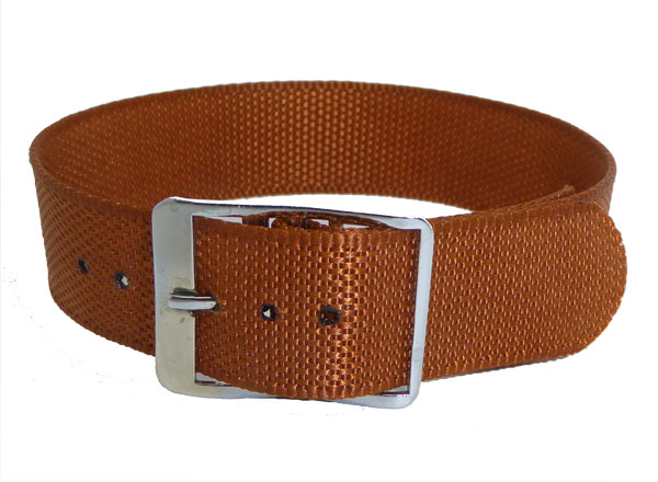 16mm Tan Coloured nylon watch straps Length 150mm
