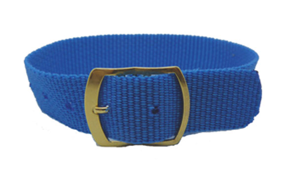 18mm Blue nylon watch straps