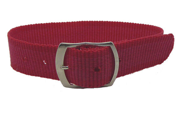 18mm Red nylon watch straps