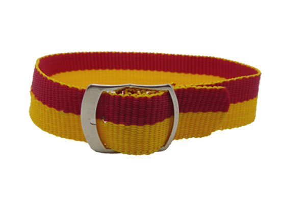 18mm Yellow Red nylon watch straps